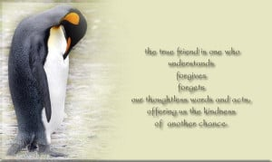 Quotes about friendship a true friend is one who understands forgives ...