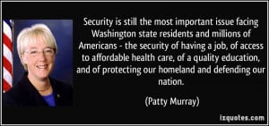 Security is still the most important issue facing Washington state ...