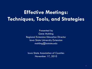 Effective Meetings Slide Quote by MikeJenny