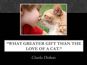 Cat Quotes – Charles Dickens – this literary giant loved cats!