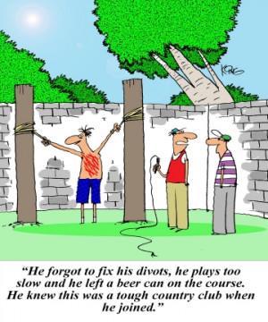 Golf Cartoon: Golf Torture - Jerry King