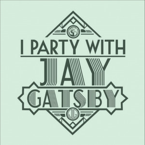 "GATSBY QUOTE: ""The bar is in full swing, and floating rounds of ..."