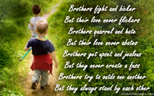 Love You Brother Poems I love you. cute poem about