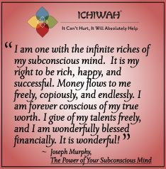 Joseph Murphy quote from The Poser of Your Subconscious Mind More