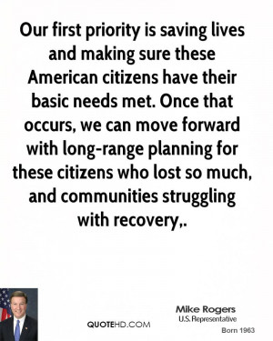Our first priority is saving lives and making sure these American ...