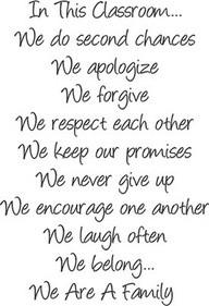 Teacher Quotes classroom apologize forgive promises family