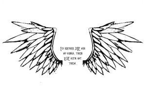 Angel Wing Tattoo by qu-bee