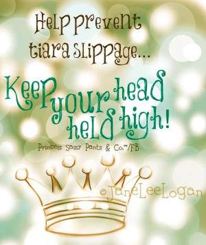 Keep your head held high