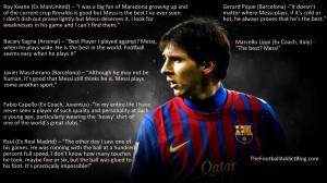 Lionel Messi Soccer Quotes...