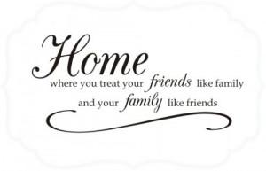 Home Where You Treat Friends Like Family...