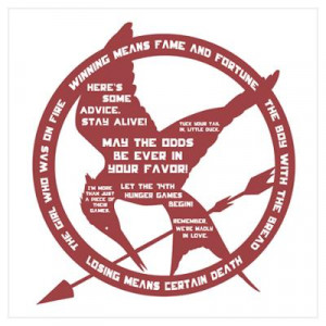 CafePress > Wall Art > Posters > Hunger Games Quotes Wall Art Poster