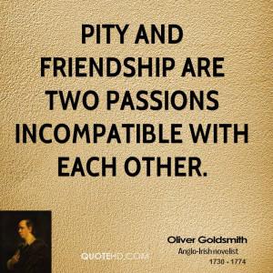 Oliver Goldsmith Friendship Quotes
