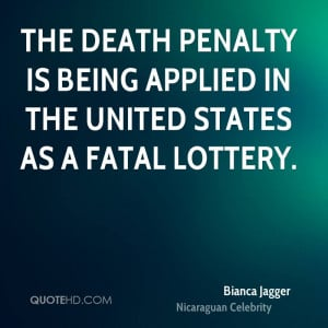The death penalty is being applied in the United States as a fatal ...
