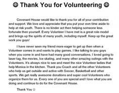 Thank You For Employees Hard Work Volunteer thank you letter