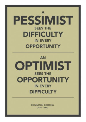 Finding the Balance between Optimism and Pessimism