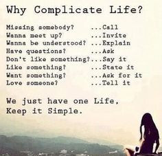No need for complication. More