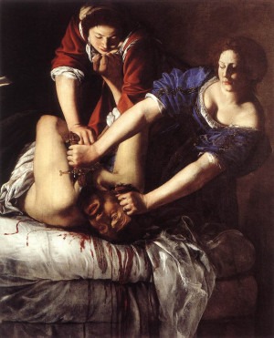 Hand painted oil painting reproduction on canvas of Judith Beheading ...