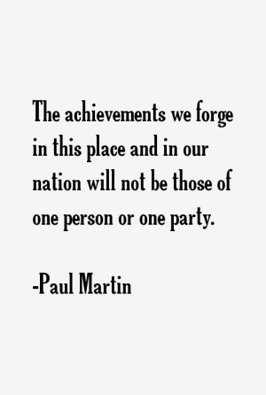 Paul Martin Quotes & Sayings