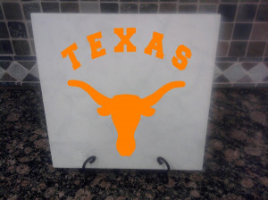 Texas Longhorns Ceramic Tile - With Optional Stand