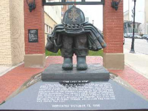 The Fallen Fire Fighter Memorial is located outside of the Milwaukee ...