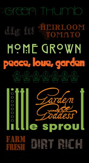 Gardening Sayings and Phrases
