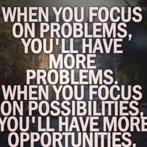 Focus makes the difference