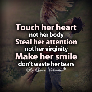 Love quotes for her touch her heart not her body