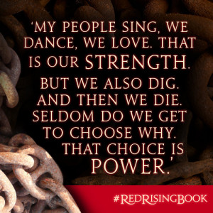 My people sing, we dance, we love. That is our strength. But we also ...