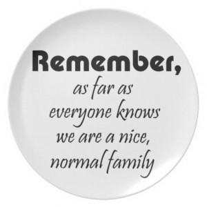 Funny family quotes gifts mom joke quote gift party plates