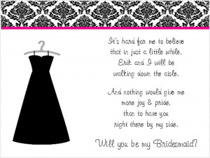 Shop our Store > Will you be my Bridesmaid Poem Cards