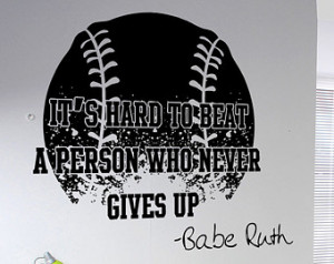 Vinyl Wall Decal Sticker Babe Ruth Quote 5430s ...