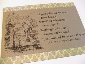 Winnie The Pooh Piglet Friendship Quotes