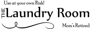 Usa Laundry Room At Your Risk vinyl wall decal quote sticker decor ...