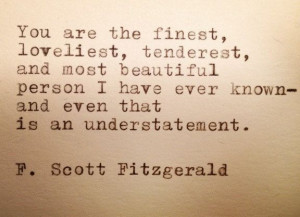 Scott Fitzgerald Framed Typewriter Quote by farmnflea on Etsy, $13 ...