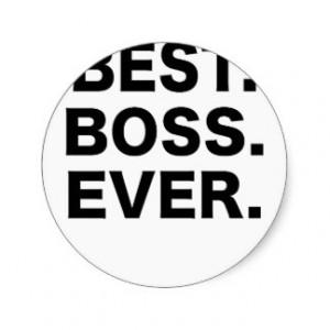 Best Boss Ever Stickers
