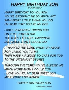 Thankful for My Son Quotes | 16th birthday quotes sister | Funny ...