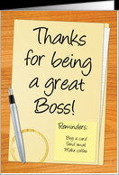 Thank You Boss - Desk Theme card - Product #754243