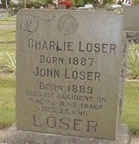 Born a loser, die a loser