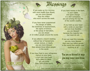 BLESSINGS: A poem by author Stephen Eardley