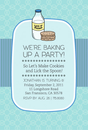 we are crazy about our new milk and cookies party theme set it s ...