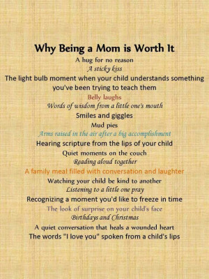 Poem being a mom is great