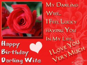 Happy Birthday My Darling Wife