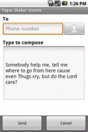 View bigger - Tupac Shakur Quotes for Android screenshot