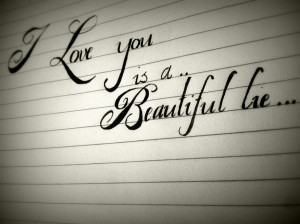 beautiful, lie, love, paper, quote