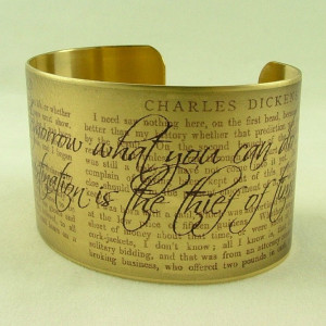 David Copperfield by Charles Dickens Literary Quote Brass Cuff ...