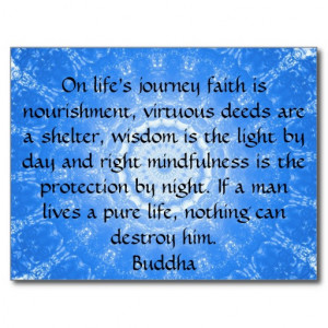 Buddha inspirational QUOTE life's journey faith Postcard