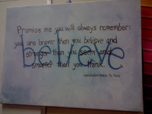 Another favorite quote is painted on the wall in Little Man's room: