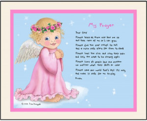 Angel My Prayer personalized art print girl baby infant inspirational