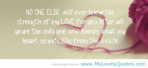 Strength of Love is for only my mother on the mother's day quotes