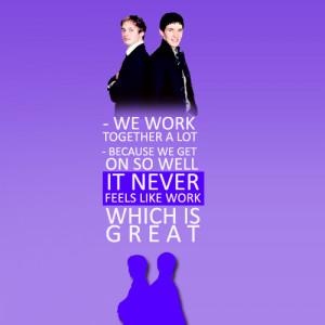 Favorite Bromance Quotes │ Colin Morgan and Bradley James